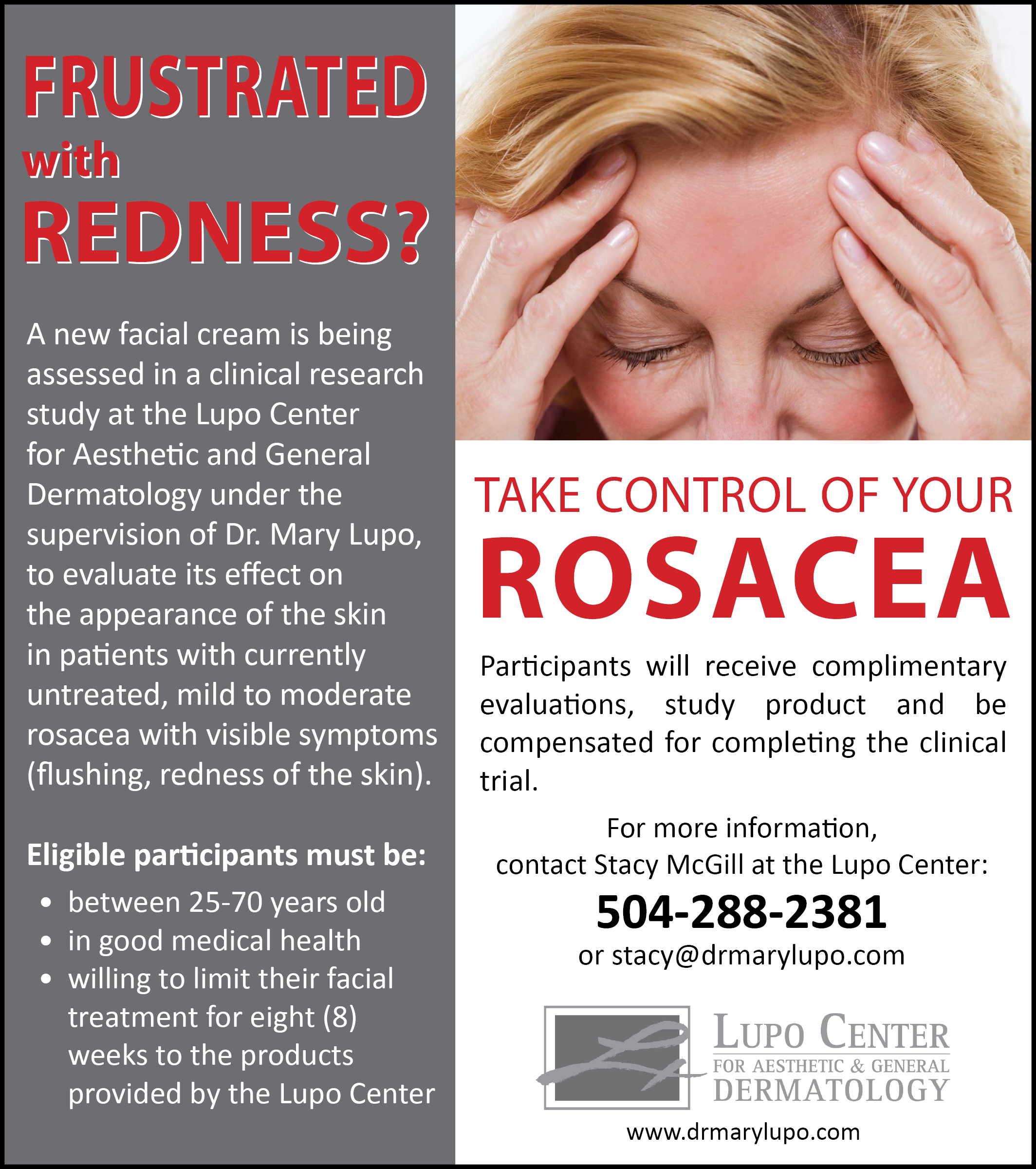Take control of your rosacea