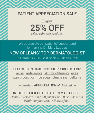 Patient Appreciation Skin Care Sale
