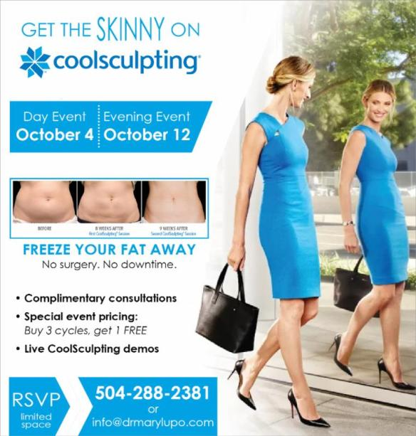 Dr. Mary Lupo, First CoolEvent for CoolSculpting